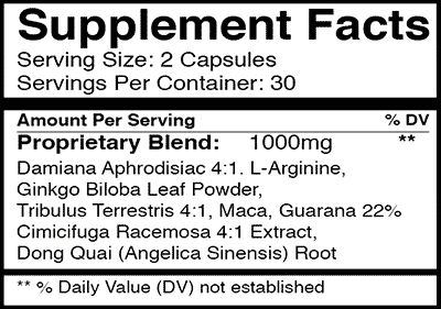 femme5 supplement facts