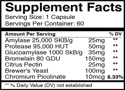 gluten5 supplement facts