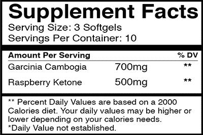 slim5 supplement facts